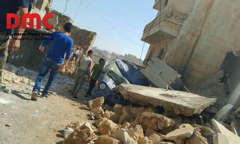 ضحايا وأضرار مادية جراء استهداف بلدة دارة عزة بصاروخ بالستي- الاثنين 8 آب (فيس بوك)