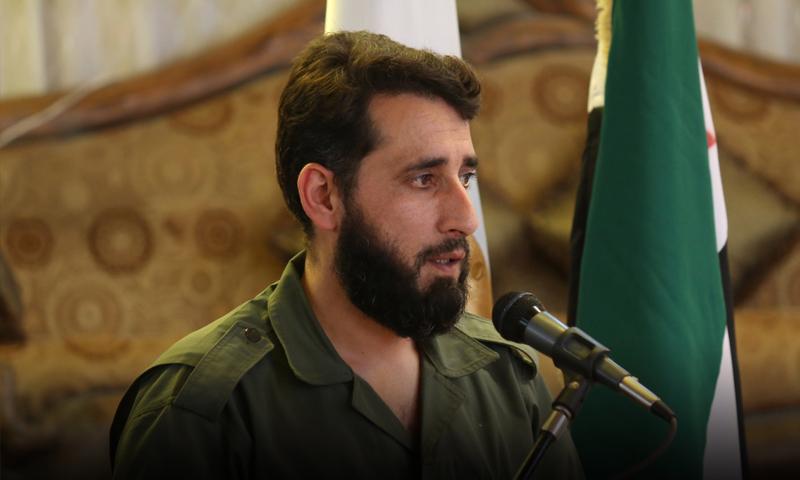"""قائد """"فيلق الرحمن"""" عبد الناصر شمير (إنترنت)"""