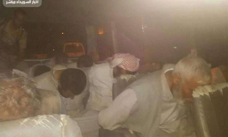 صور لمخطوفين من محافظة درعا لدى جهات في محافظة السويداء 14 آب (فيس بوك)