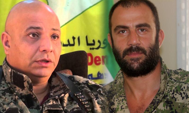 """القائد العسكري في غرفة عمليات """"فتح حلب""""، ياسر عبد الرحيم (يمين الصورة) والمتحدث باسم قوات """"سوريا الديمقراطية""""، طلال سلو."""