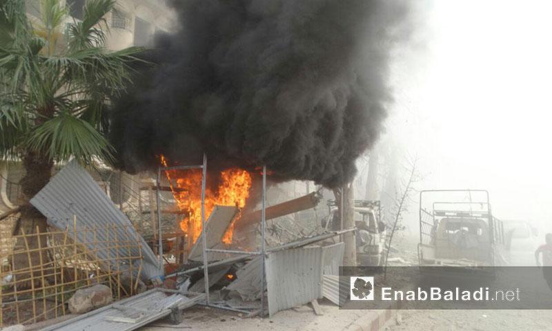 إصابات بشرية وخسائر مادية جراء غارات جوية على حي الوعر- السبت 27 آب (عنب بلدي)