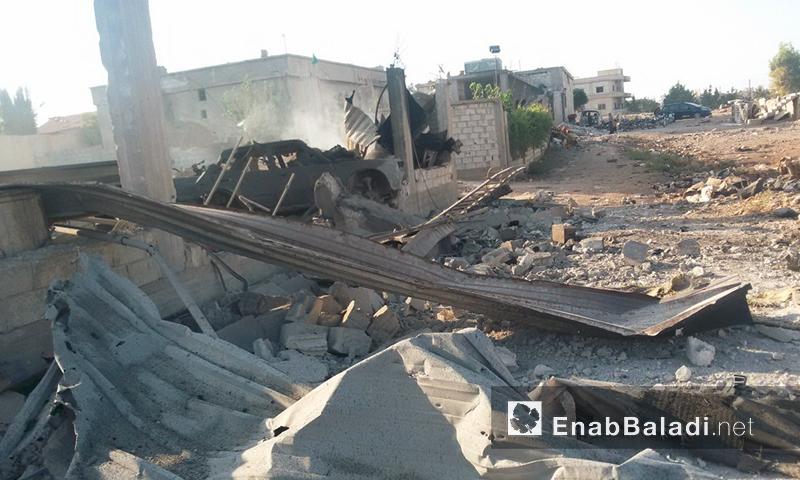 آثار القصف على زاكية غرب دمشق - الأحد 31 تموز (أرشيف عنب بلدي)