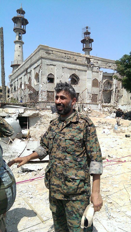 أبو حيدر، قائد الجناح العسكري في اللواء (فيس بوك)