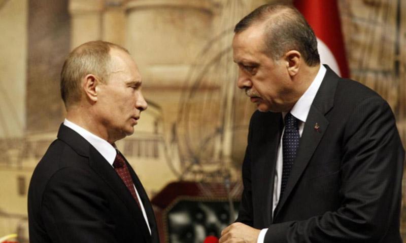 الرئيسان التركي رجب طيب أردوغان، والروسي فلاديمير بوتين (إنترنت)
