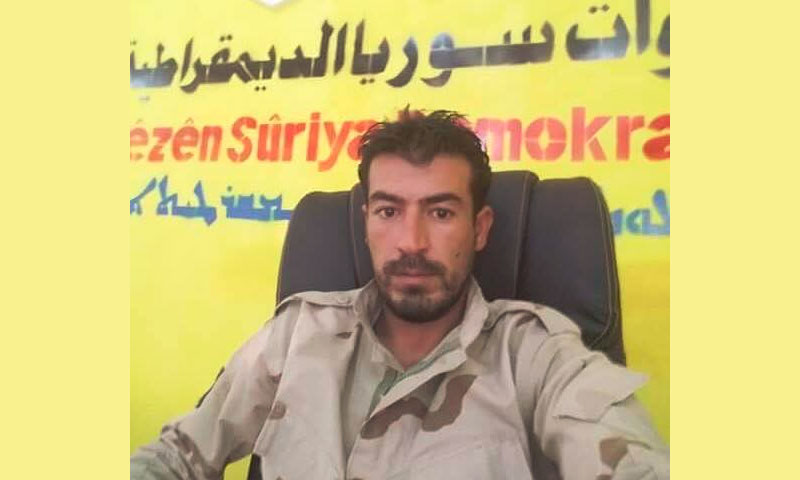 """قائد """"لواء السلاجقة"""" التابع لقوات """"سوريا الديمقراطية"""" هاني الملا (تويتر)"""