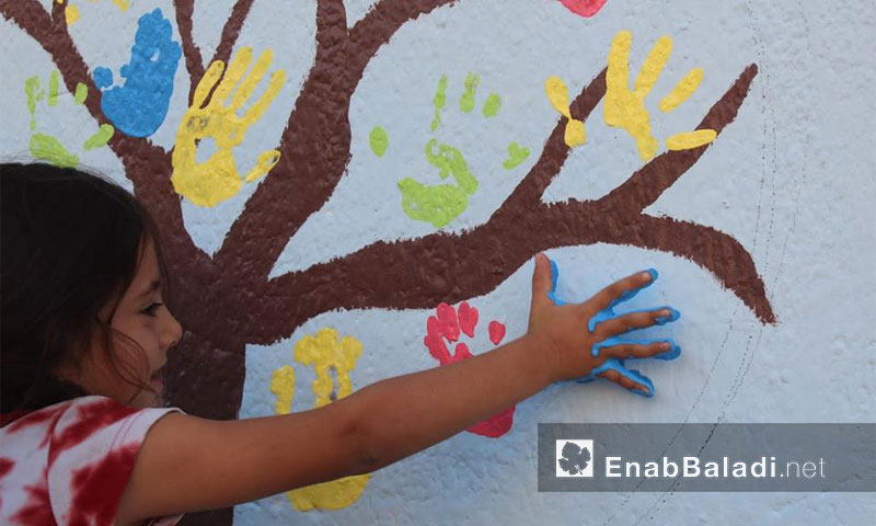 من فعاليات ألواننا سلامنا في مدينة القامشلي- الأربعاء 21 أيلول (عنب بلدي)