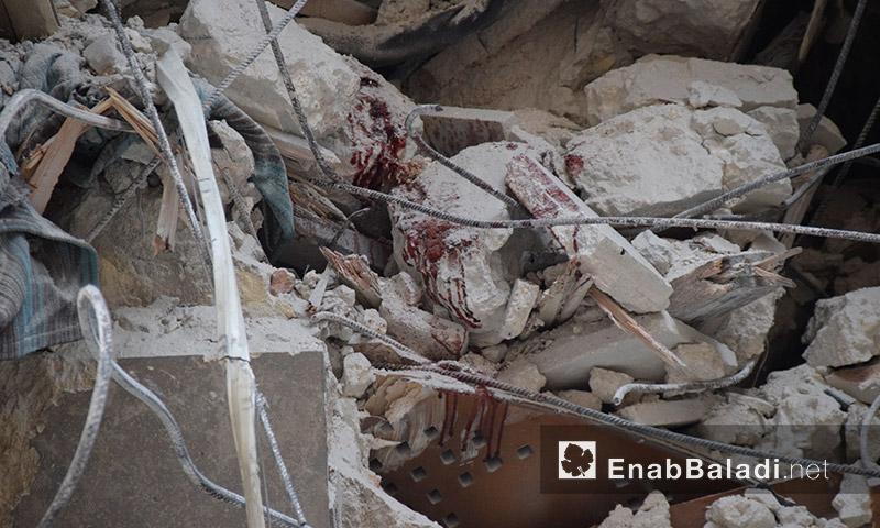 آثار القصف على حي الشعار في حلب 7 أيلول (عنب بلدي)