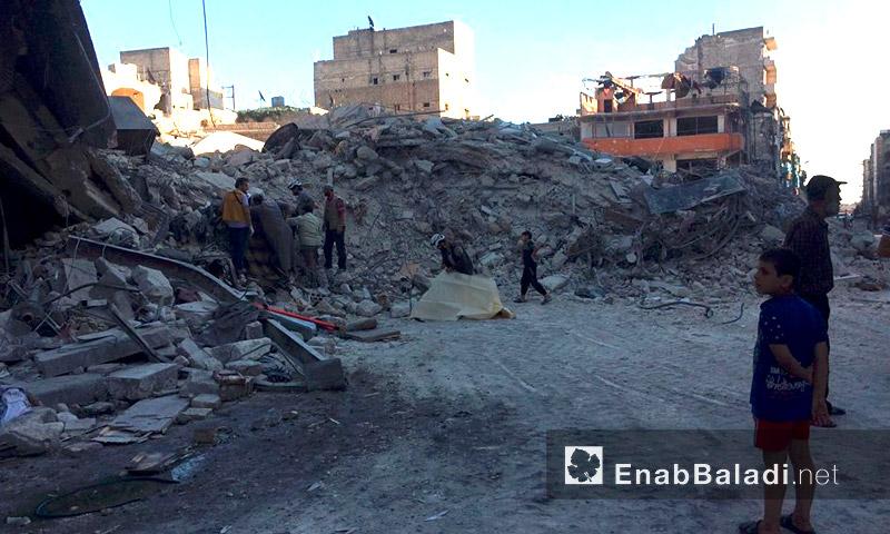 آثار القصف على حي الكلاسة في حلب - الجمعة 23 أيلول (عنب بلدي)
