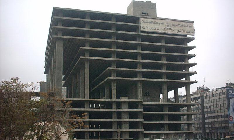 مجمع يلبغا بالقرب من ساحة المرجة وسط دمشق(إنترنت)
