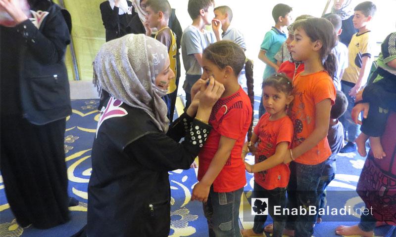 نشاطات رابطة المرأة المتعلمة تستهدف أطفال داريا في إدلب - أيلول 2016