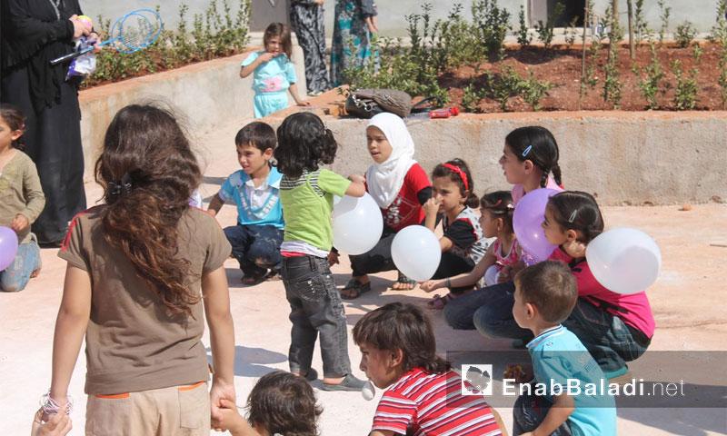أطفال داريا في مخيمات ريف إدلب - أيلول 2016 (عنب بلدي)