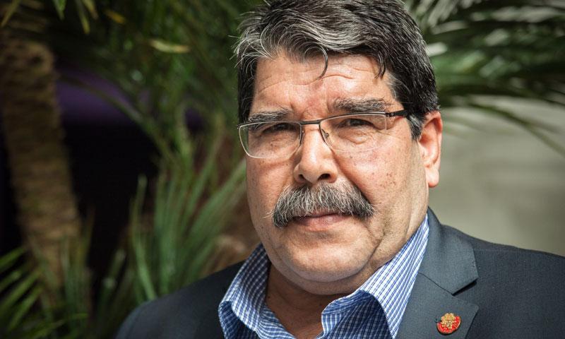 """صالح مسلم- الرئيس المشترك لحزب """"الاتحاد الديمقراطي"""" الكردي (وكالات)"""