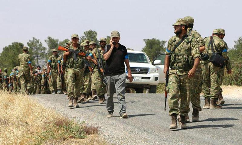 """عناصر من """"الجيش الحر"""" في جرابلس- آب 2016 (إنترنت)"""