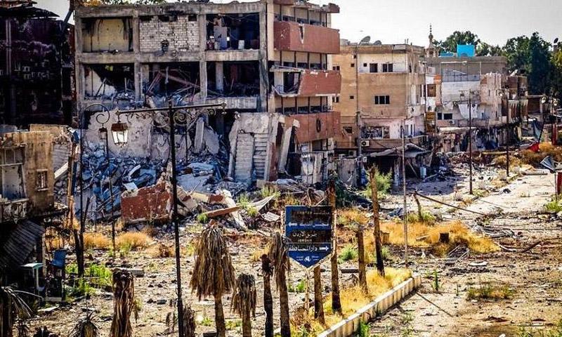 السوق المدمر في درعا المحطة (أرشيفية)