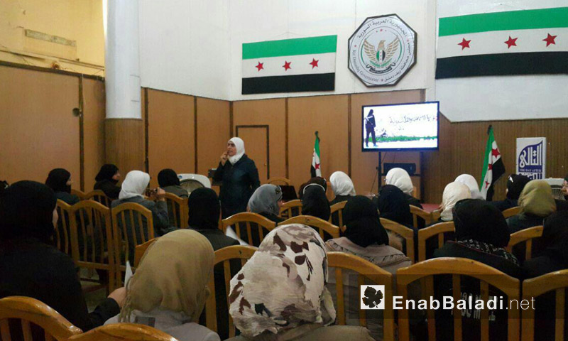 البريطاني في قاعة مجلس محافظة دمشق - حورية - 31 آب (عنب بلدي)