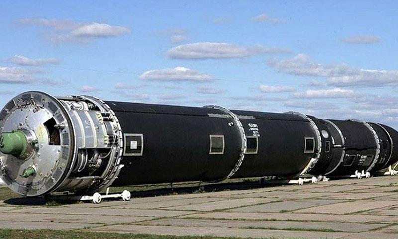 """صاروخ """"سارمات"""" البالستي الروسي (روسيا اليوم)"""