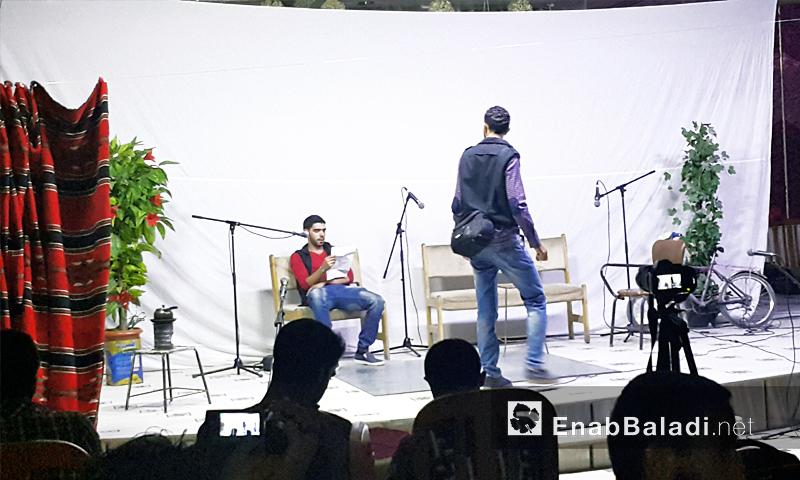 """العرض المسرحي الأول في الغوطة الشرقية بعنوان """"الانسحاب"""" - 24 أيلول 2016 (عنب بلدي)"""