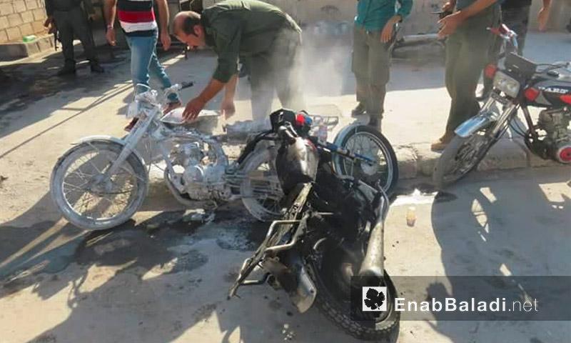 الدراجة المفخخة في الحسكة - الاثنين 5 أيلول (عنب بلدي)