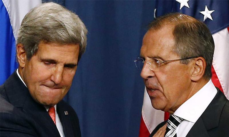 الوزيران الروسي والأمريكي (إنترنت)
