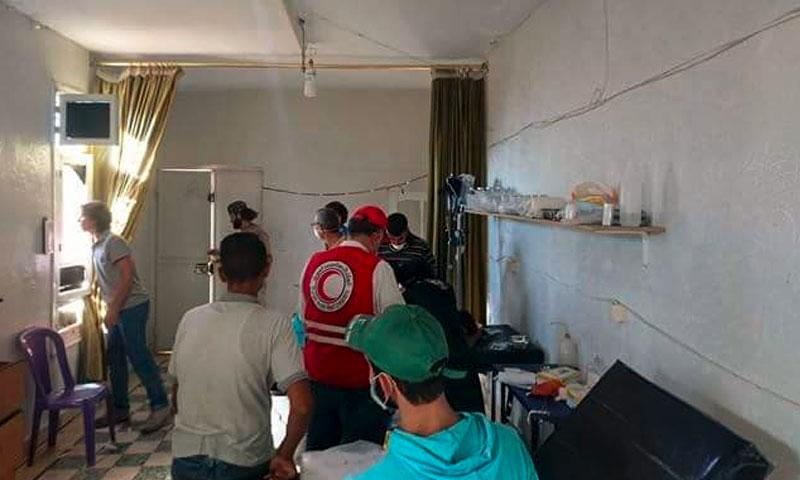 وفد الهلال يتحرك إلى مضايا - الخميس 8 أيلول (صفحة مضايا في فيس بوك)