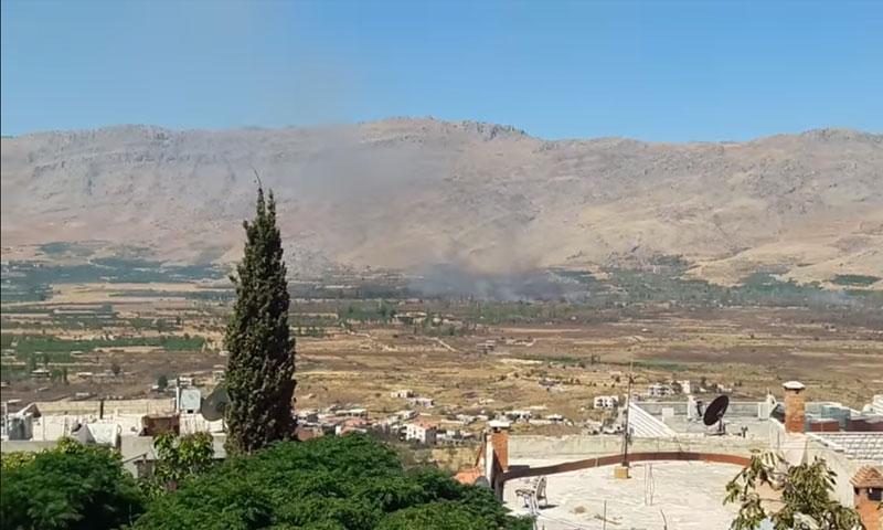 إحراق الأراضي الزراعية في مضايا - 11 أيلول (يوتيوب)