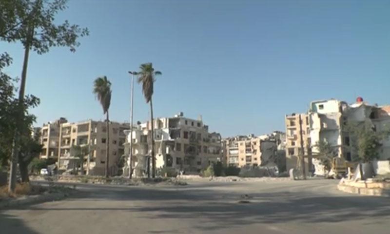 جانب من طريق الكاستيلو في مدينة حلب (يوتيوب)