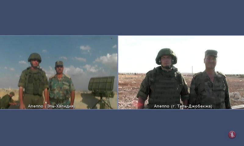 صور مباشرة نقلتها الكاميرات الثابتة الروسية في حلب - الخميس 15 أيلول (وزارة الدفاع الروسية)