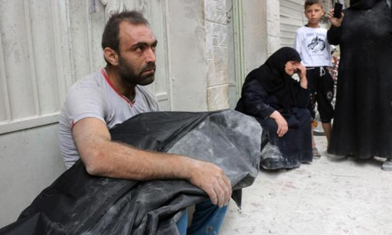 أهالي مدينة حلب 23 أيلول (AFP)