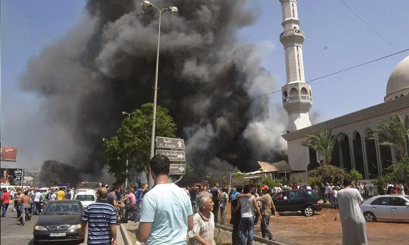 صور من تفجيري مسجدي السلام والتقوى آب 2013 (إنترنت)