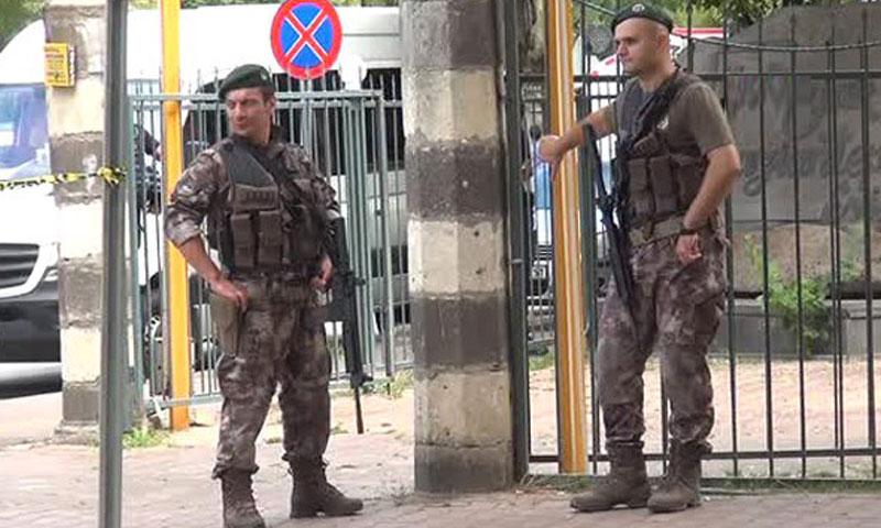 الشرطة التركية في شوارع غازي عنتاب- الجمعة 23 أيلول (تويتر)