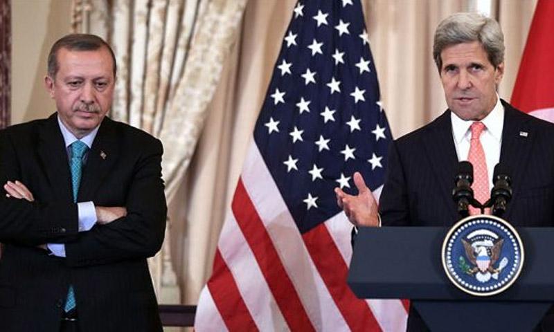 تعبيرية: الرئيس التركي ووزير الخارجية الأمريكي (إنترنت)