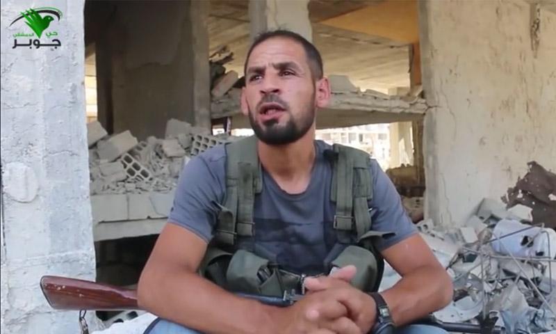 """المقاتل """"أبو علي زيبق"""" (يوتيوب)"""