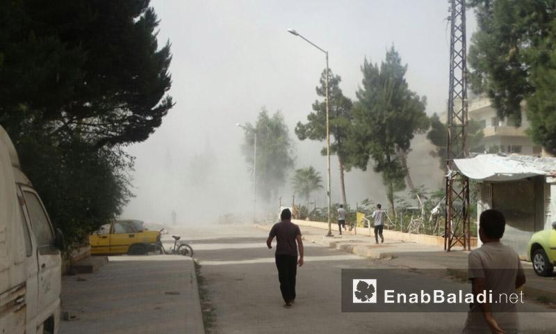 آثار القصف على حي الوعر - الثلاثاء 21 أيلول (عنب بلدي)