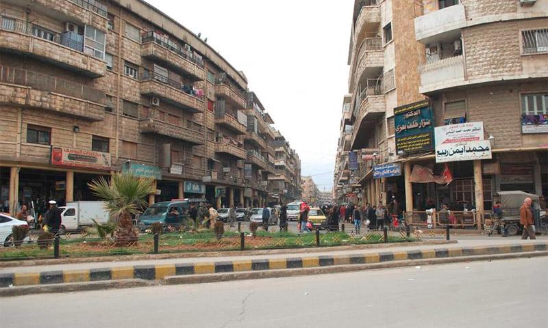 """شارع """"8 آذار"""" في مدينة حماة (إنترنت)"""