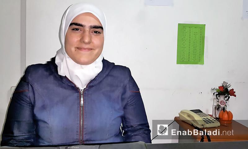 بيان ريحان، مديرة مكتب المرأة في مجلس دوما المحلي (عنب بلدي)
