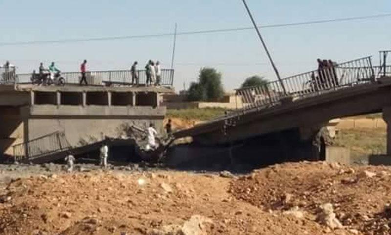 جسر الصالحية في دير الزور- الجمعة 30 أيلول (تويتر)