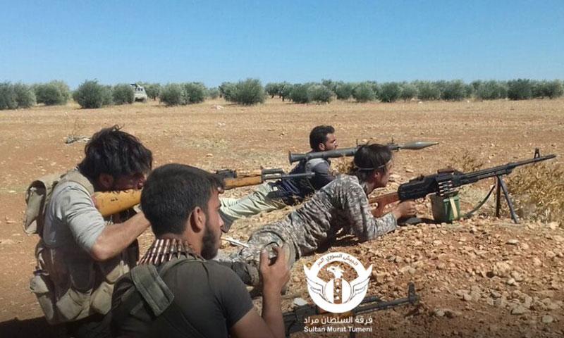 """عناصر من """"الجيش الحر"""" في ريف حلب الشمالي- الخميس 29 أيلول (السلطان مراد)"""