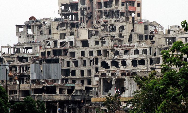 أرشيفية- الدمار في مدينة حمص (وكالات)