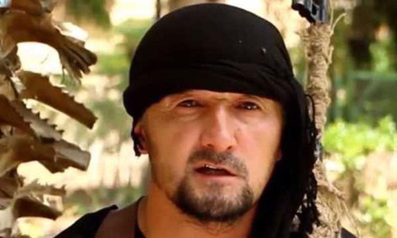 """القيادي الطاجيكي في صفوف """"الدولة الإسلامية"""" غول مراد حليموف (يوتيوب)"""