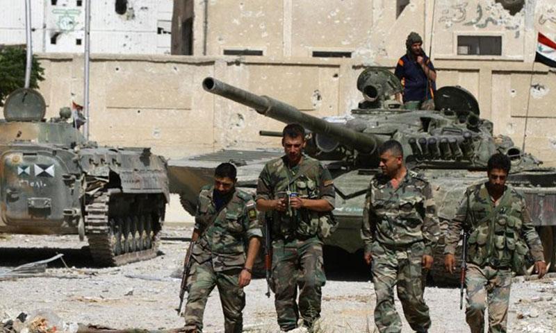 عناصر من قوات الأسد في دير الزور (أرشيفية)