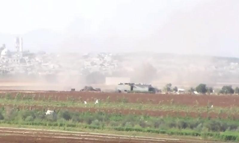 غارات جوية على مدينة كفرزيتا في ريف حماة- الخميس 15 أيلول (يوتيوب)