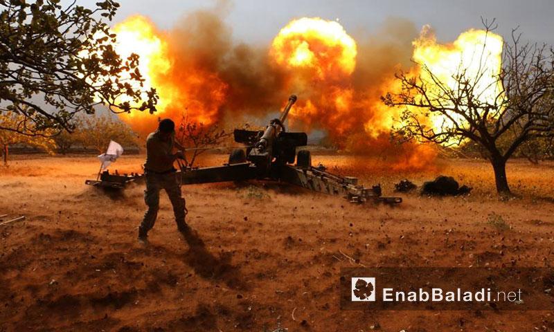 """أرشيفية- من معارك """"جيش العزة"""" في ريف حماة الشمالي (عنب بلدي)"""