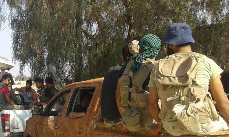 """مقاتلون من """"الجيش الحر"""" في ريف حماة الشمالي- الثلاثاء 13 أيلول (جيش النصر)"""