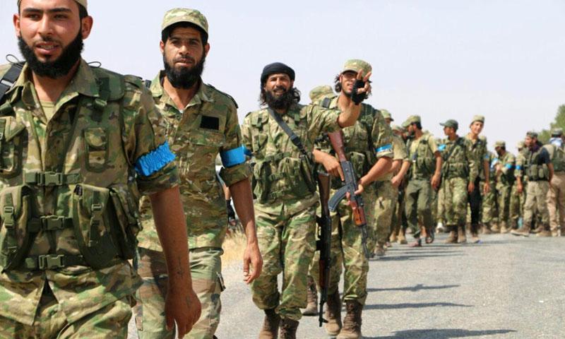 """أرشيفية- مقاتلون من """"الجيش الحر"""" في ريف حلب الشمالي (تويتر)"""