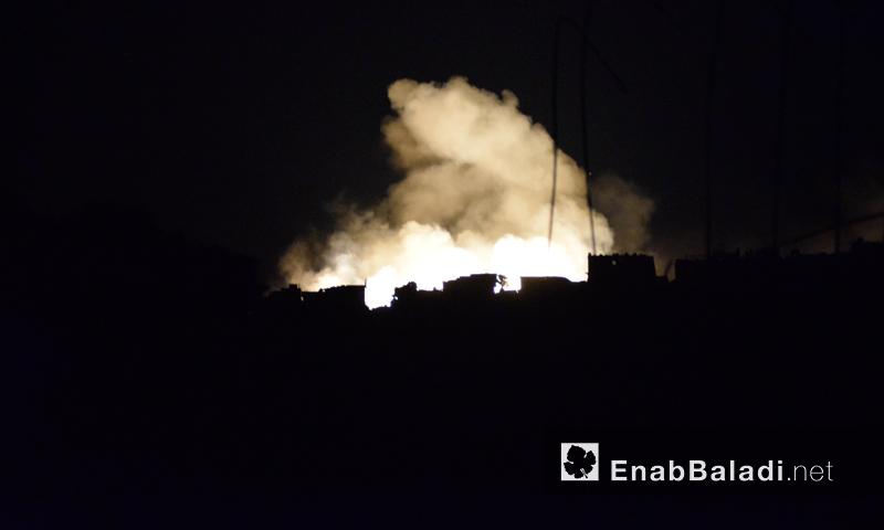 قصف بالقنابل الفوسفورية على أحياء حلب- السبت 24 أيلول (عنب بلدي)