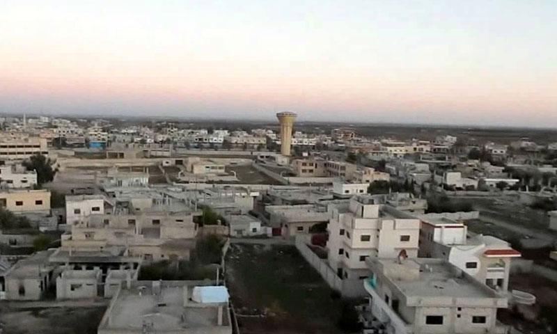 مدينة داعل في محافظة درعا (فيس بوك)