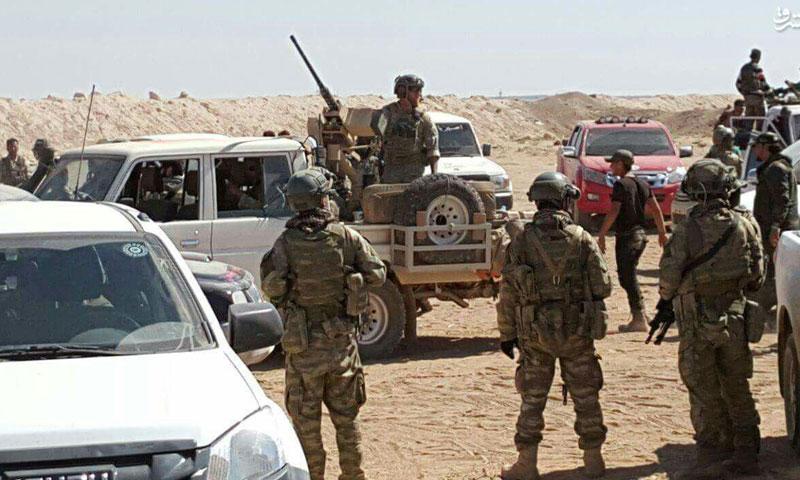 جنود أمريكيون في بلدة الراعي شمال حلب - الجمعة 16 أيلول (إنترنت)