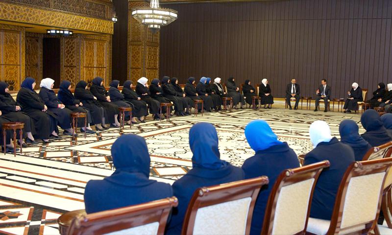 اجتماع القبيسيات مع رئيس النظام السوري، بشار الأسد، في دمشق - 2014 (رئاسة الجمهورية)