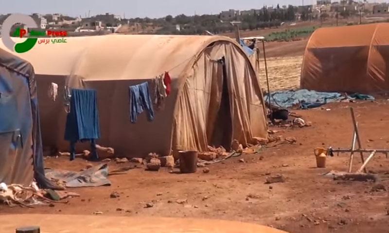 مخيمات لنازحي ريف حماة في ريف إدلب الجنوبي- الثلاثاء 6 أيلول (عاصي برس)