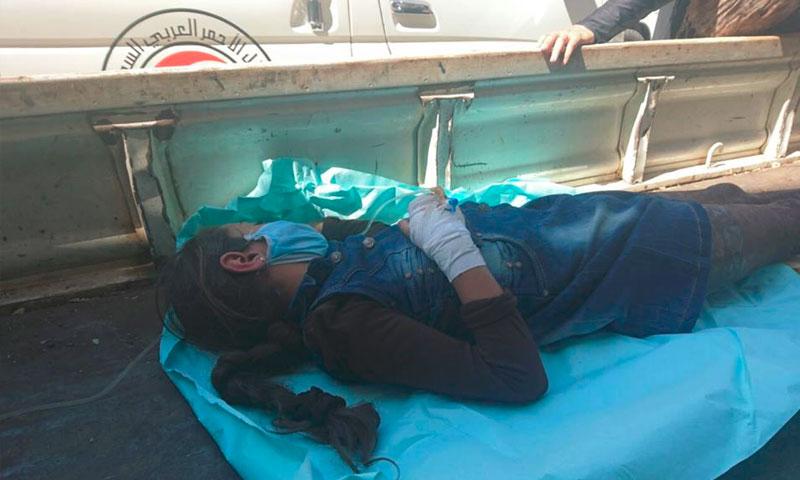 الطفلة سيدرا كنعان في مضايا - الخميس 8 أيلول (فيس بوك)